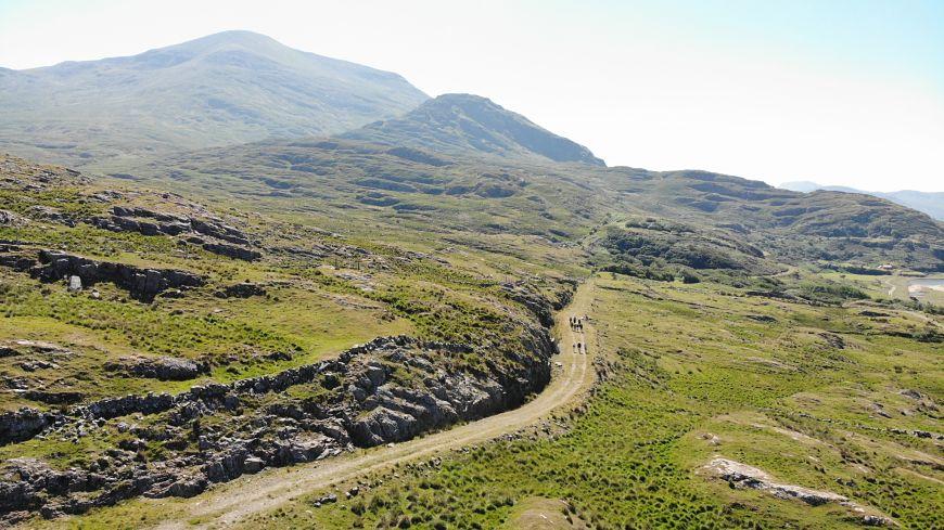 Connemara mountains sheep farm